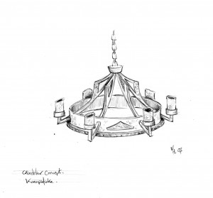 Custom chandelier concept for Reimer & Co. Sadly, it was never produced.