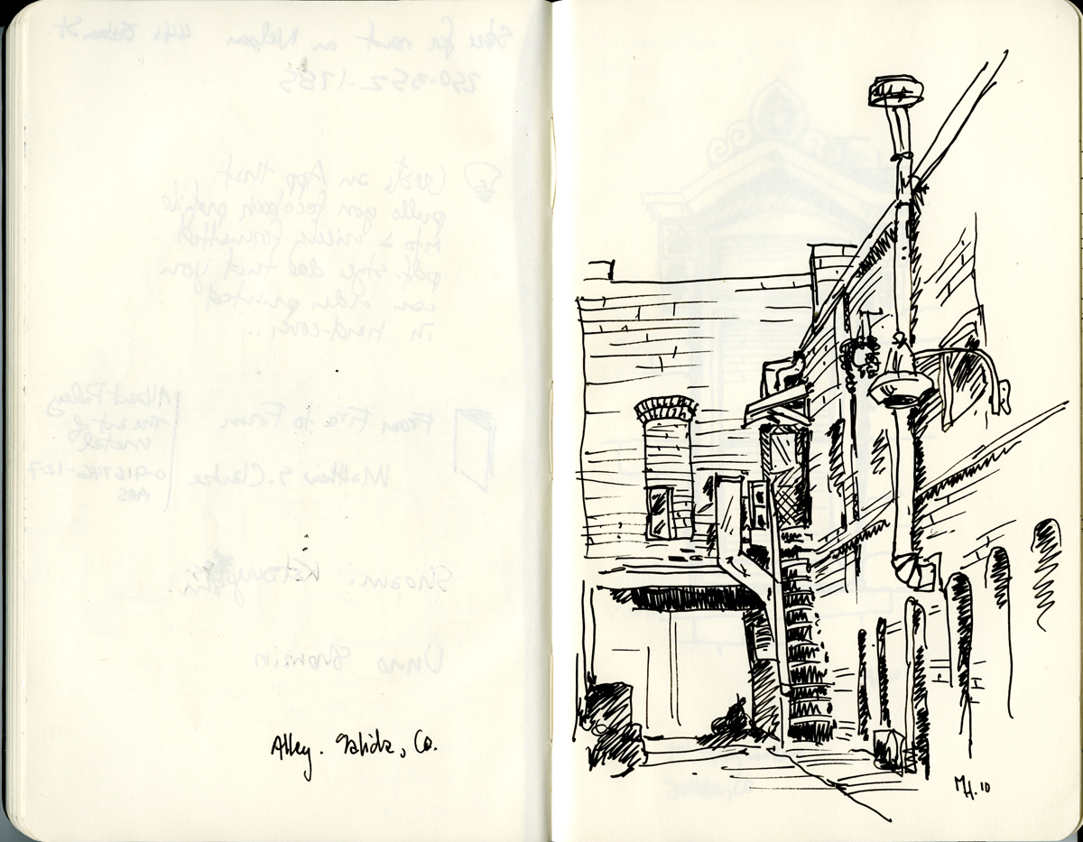 alley sketch salida colorado